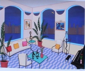 Interior With Primitive Art Limited Edition Print by Fanch Ledan