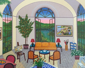 Interior With Seurat 1995 Limited Edition Print - Fanch Ledan