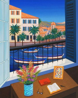 Window on Bonifacio 1998 Limited Edition Print - Fanch Ledan