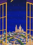 Windows on Paris 1990 Limited Edition Print - Fanch Ledan