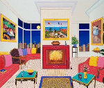 Interior With Three Masterpieces AP 2002 Limited Edition Print - Fanch Ledan