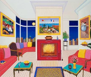 Interior With Three Masterpieces AP 2002 Limited Edition Print by Fanch Ledan