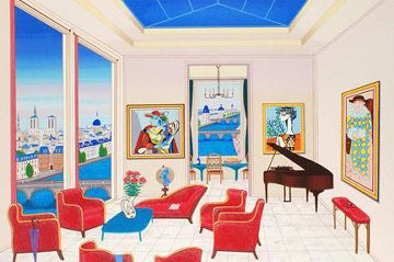 Interior With Four Picassos AP 1999 Limited Edition Print - Fanch Ledan