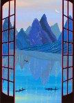 China Mountains 1990 Limited Edition Print - Fanch Ledan