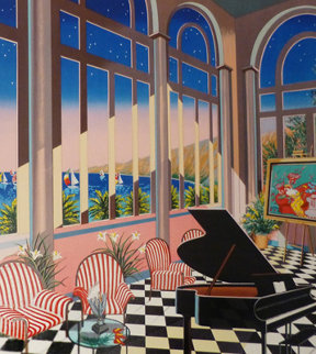 Interior With Peter Max  2004 Embellished Limited Edition Print by Fanch Ledan