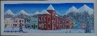 Aspen Village 2004 21x45 Huge Original Painting by Fanch Ledan - 2