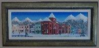 Aspen Village 2004 21x45 Huge Original Painting by Fanch Ledan - 1