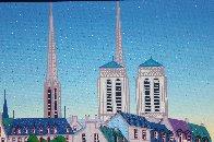 Paris Pont Des Arts 2001 Embellished  (Notre Dane) Limited Edition Print by Fanch Ledan - 6