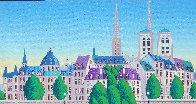 Paris Pont Des Arts 2001 Embellished  (Notre Dane) Limited Edition Print by Fanch Ledan - 4