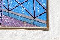 Paris Pont Des Arts 2001 Embellished  (Notre Dane) Limited Edition Print by Fanch Ledan - 8
