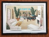 Patio With Grand Piano 1991 Limited Edition Print by Fanch Ledan - 1