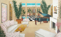 Patio With Grand Piano 1991 Limited Edition Print by Fanch Ledan - 0