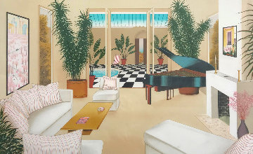 Patio With Grand Piano 1991 Limited Edition Print by Fanch Ledan
