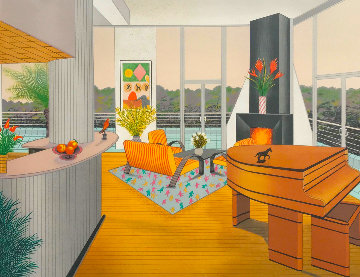 Interior With Fireplace AP 1991 Limited Edition Print by Fanch Ledan