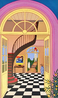 Interior With Staircase Limited Edition Print by Fanch Ledan