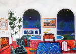 Interior With Salvador Dali Limited Edition Print - Fanch Ledan