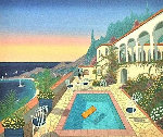 View From the Studio 1997 Limited Edition Print - Fanch Ledan