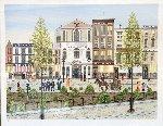 Eagle Theatre Village Limited Edition Print - Fanch Ledan