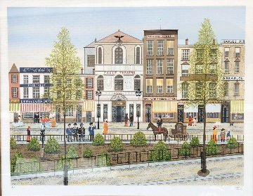 Eagle Theatre Village Limited Edition Print - Fanch Ledan