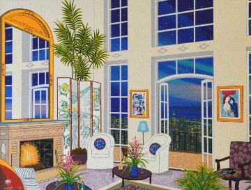 Manhattan Penthouse 1998 Embellished Limited Edition Print - Fanch Ledan