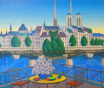 Paris Pont Des Arts 2001 Embellished Limited Edition Print by Fanch Ledan