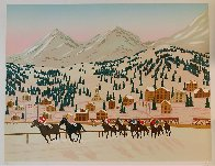 Horse Racing in St. Moritz Limited Edition Print by Fanch Ledan - 1
