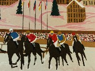 Horse Racing in St. Moritz Limited Edition Print by Fanch Ledan - 2