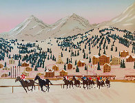 Horse Racing in St. Moritz Limited Edition Print by Fanch Ledan - 0
