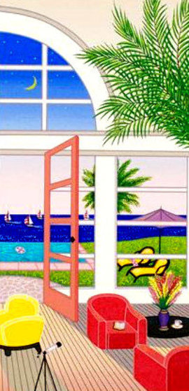 Pool House in Palm Beach AP 2002 Limited Edition Print by Fanch Ledan