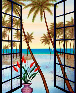 Window on Lagoon  Limited Edition Print - Fanch Ledan