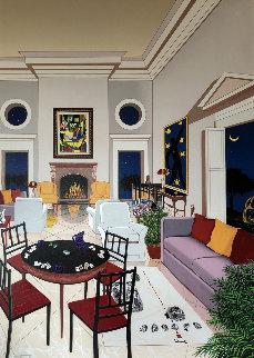 Le Salon Matisse 2004 Heavily Embellished Super Huge Limited Edition Print - Fanch Ledan