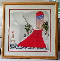 Le Grand Escalier Rouge 1985 Limited Edition Print by Fanch Ledan - 1