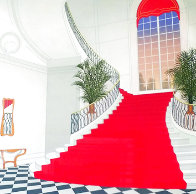 Le Grand Escalier Rouge 1985 Limited Edition Print by Fanch Ledan - 0