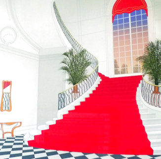 Le Grand Escalier Rouge 1985 Limited Edition Print - Fanch Ledan