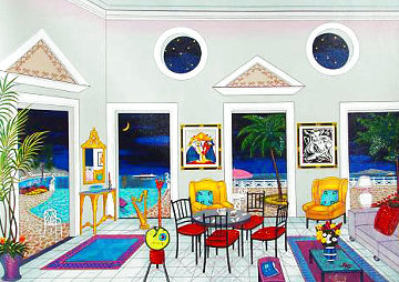 Interior With Two Picassos 2004 Embellished Limited Edition Print - Fanch Ledan