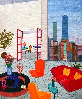 New York Vista 2019 18x15 Original Painting by Fanch Ledan - 0