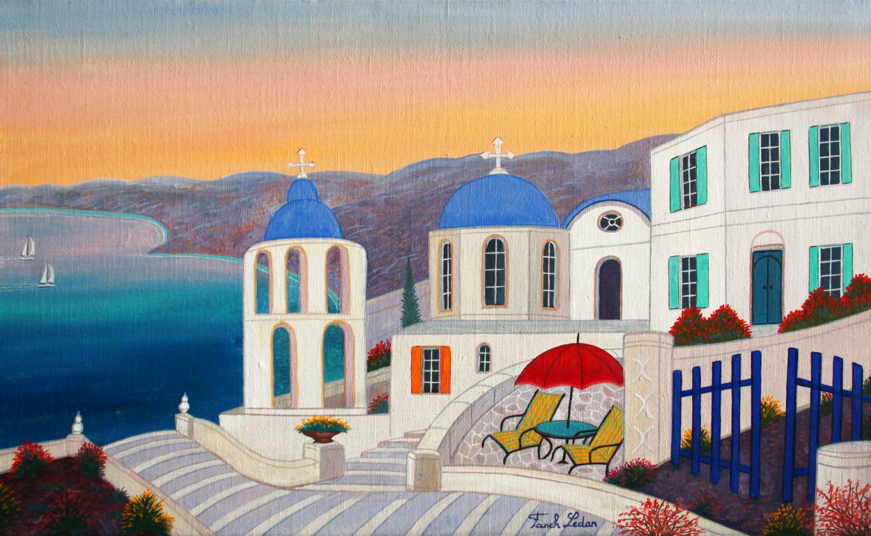 Stairways to the Med 2019 13x22 Original Painting by Fanch Ledan