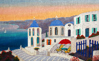 Stairways to the Med 2019 13x22 Original Painting by Fanch Ledan - 0