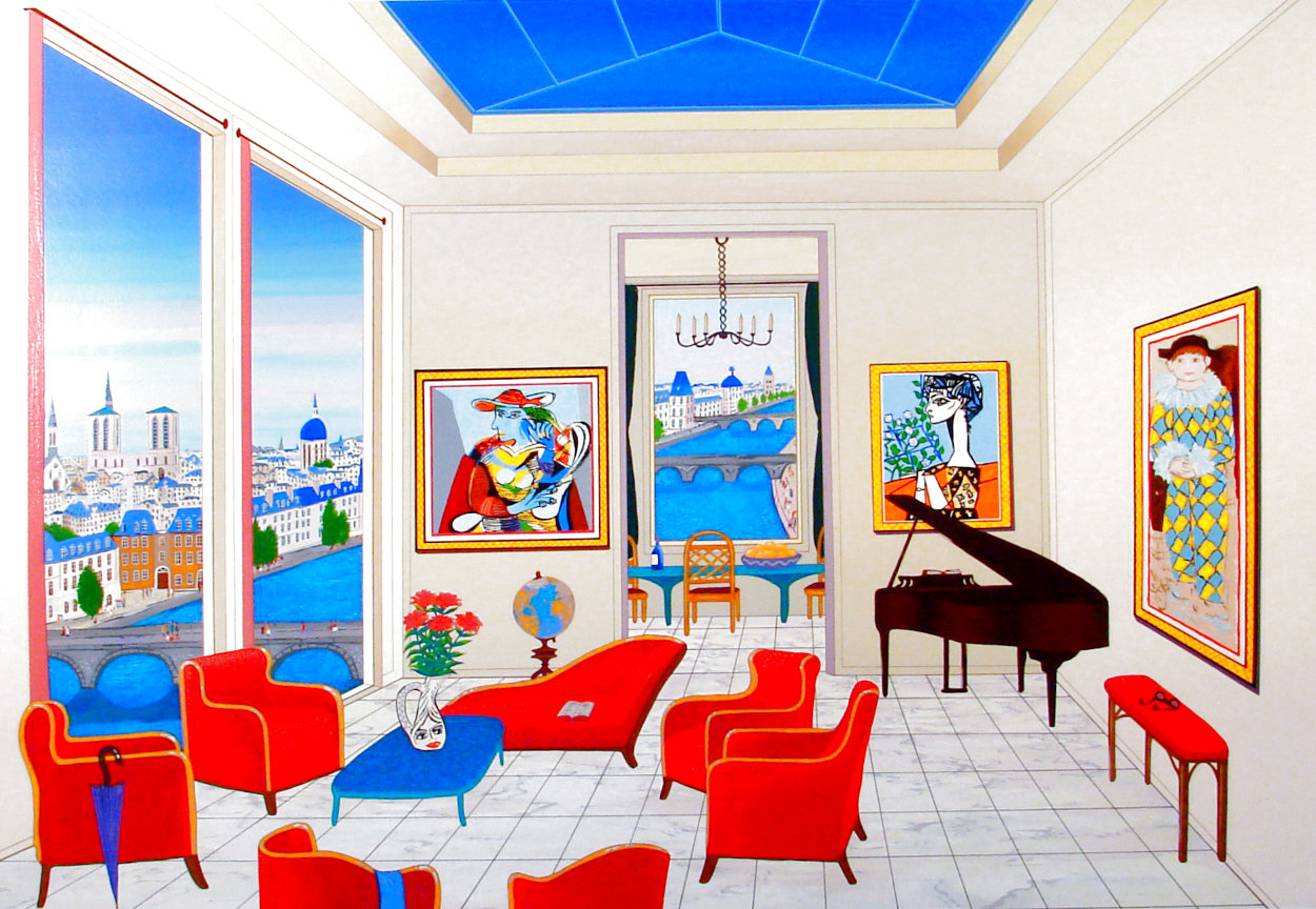 Interior With Four Picasso 1999 Limited Edition Print by Fanch Ledan