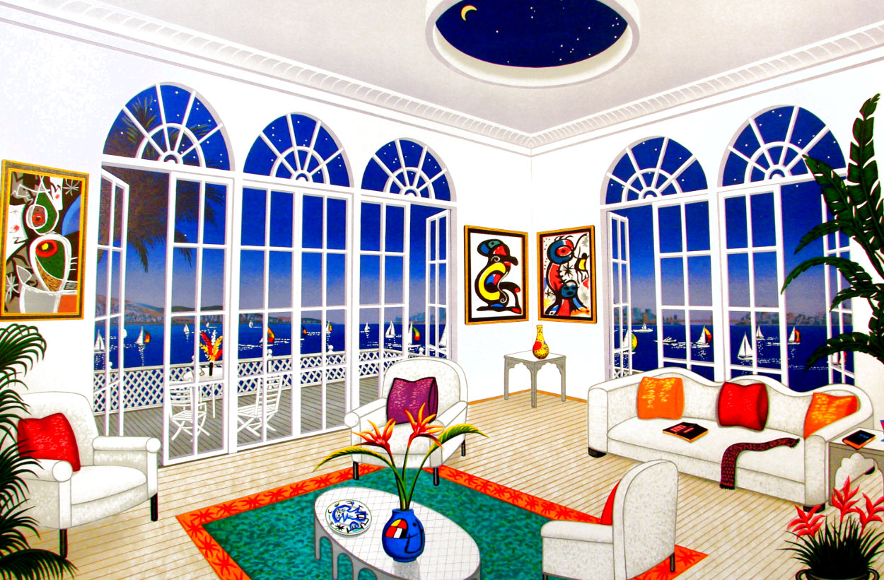 Interior With Miro 1996 Limited Edition Print by Fanch Ledan