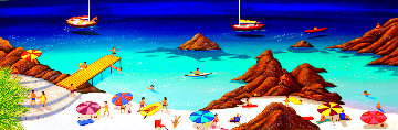 Malaga Beach 2002 Limited Edition Print - Fanch Ledan