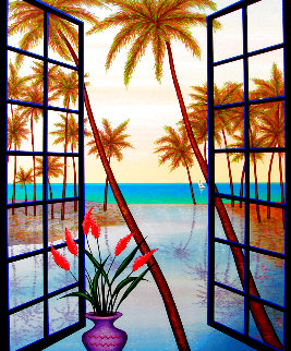 Window on Lagoon 2002 Limited Edition Print - Fanch Ledan