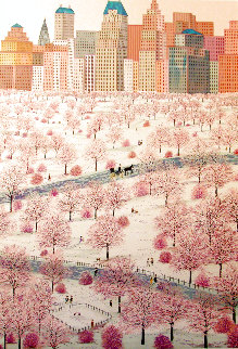 Spring Snow Over Central Park 1981 Limited Edition Print - Fanch Ledan