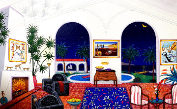 Interior With Salvardor Dali Limited Edition Print - Fanch Ledan