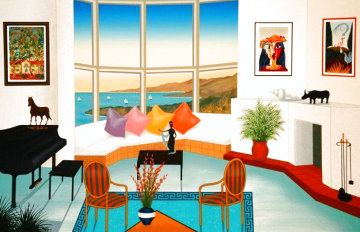 Interior With Picasso - Huge  Limited Edition Print - Fanch Ledan