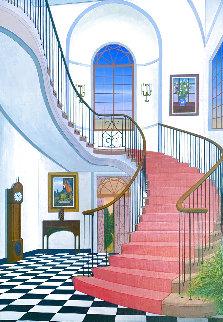 Salinger Mansion 1989 34x26 Original Painting - Fanch Ledan