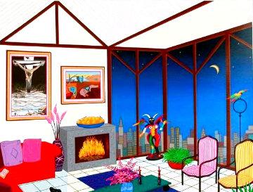 Interior With Salvador EA 2000 Limited Edition Print - Fanch Ledan