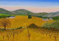 Vineyard 1975 14x20 Original Painting by Fanch Ledan - 0