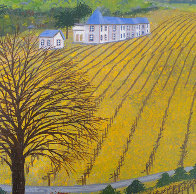 Vineyard 1975 14x20 Original Painting by Fanch Ledan - 2
