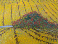 Vineyard 1975 14x20 Original Painting by Fanch Ledan - 4